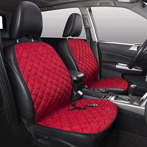 AIOFOGXC Cubiertas de Asiento con calefacción de 12 V Coche Universal Invierno Cojín de calefacción Cojines Calefactores Manténgase cálido/Apto para Mercedes W211 / Fit para Skoda Octavia 2