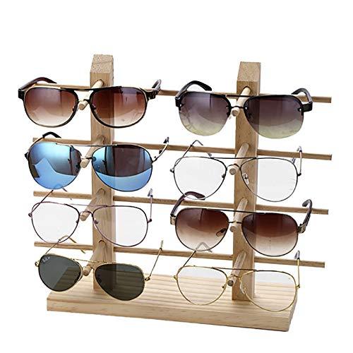 JuJuOSRE Multi-Schichten Holz Sunglass Display Rack Regal Brillen Zeigen Ständer Schmuckständer for Multi-Paare Gläser Vitrine Dropshipping (Color : 8 Pairs)