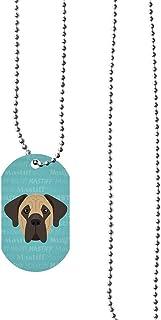 Mystic Sloth Dog Breed Design Dog Tag Necklace with 30 Ball Chain (Mastiff)
