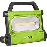 LUCECO leistungsstarker ultraflacher AKKU LED Baustrahler 30W, 2500lm, 6500K, IP54-geschützt, 100-240 V, LWR25BG-EU