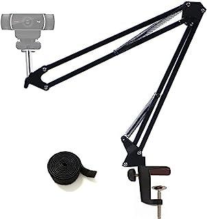 Tencro Regulowany stojak na kamerę internetową na biurko wiszący wysięgnik nożycowy uchwyt na aparat uchwyt na biurko do k...