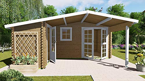 AL Timber Ltd - Cabaña de madera para jardín u oficina en forma de L (5,1 m x 4,8 m)