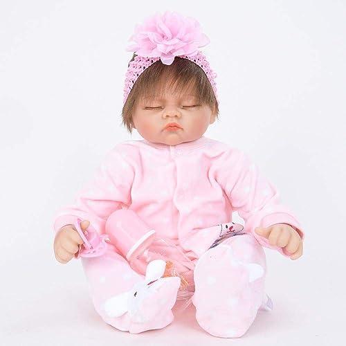 Hongge Reborn Baby Doll,Sieht echt aus Reborn Puppe Spielzeug Baby w st, um Partner 5cm zu wollen
