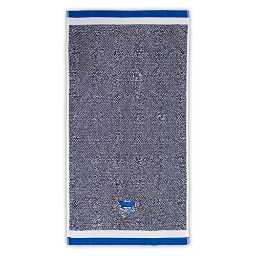 Hertha BSC Berlin Duschtuch - blau Melange - Handtuch 70 x 140 cm, Badetuch, Towel - Plus Lesezeichen I Love Berlin