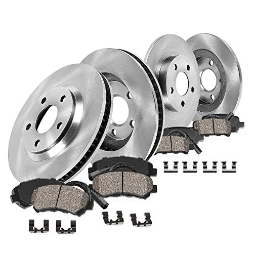 [ E36 ] FRONT 286 mm + REAR 280 mm Premium OE 5 Lug [4] Rotors + [8] Ceramic Brake Pads + Sensors + Hardware CRK12572