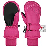Andake Kids Ski Mittens Winter Warm Waterproof & Windproof Gloves for Boys Girls