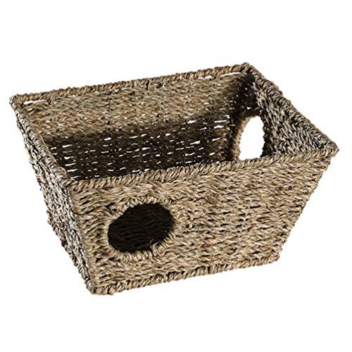 Cabilock Casa de Hierba de Conejito Natural Seagrass Masticar Nido Pequeño Animal Hideout Cama de Cueva para Mascotas Juego de Heno Hideaway Hut Juguete para Conejo Conejillo de Indias
