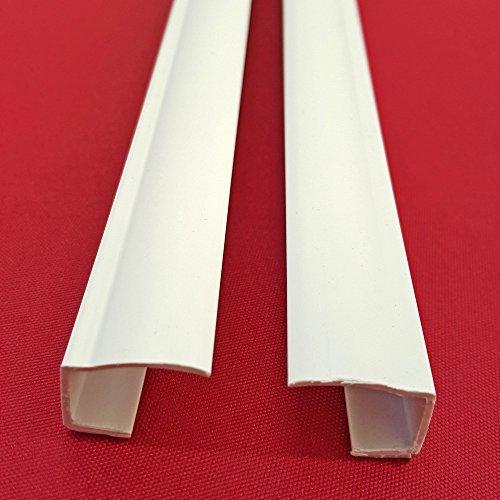 Sonnenschutz-HH 4 Stück PVC Seitenschienen Länge 150 cm selbstklebend für Klemmfix-Rollos Verdunkelungsrollo - individuell kürzbar/Montage ohne Bohren - weiß
