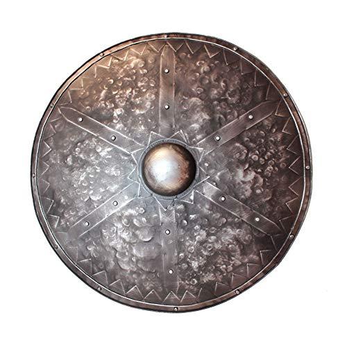 Yingm Escudo Medieval para Restaurante Medieval Mural Creativo del Bronce de Ronda Escudo Romano de Bar Restaurante Decoración de Pared (Color : Bronze, Size : 60x60cm)