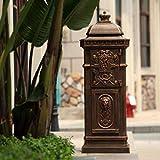 XYFJD Buzón de envío de correspondencia Periódico Titular al aire libre con cerradura y Buzón de estilo europeo, en el buzón de correo cajas de gran capacidad, Villa Letter Box, Post Box Comunidad, Ca
