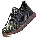 Ucayali Zapatillas de Seguridad para Trabajar Hombre Calzado Trabajo Ligeras Zapatos de Seguridad Verano con Punta de Acero Malla Comodos Transpirables Antiestaticos(034 Verde Mesh, 39 EU)