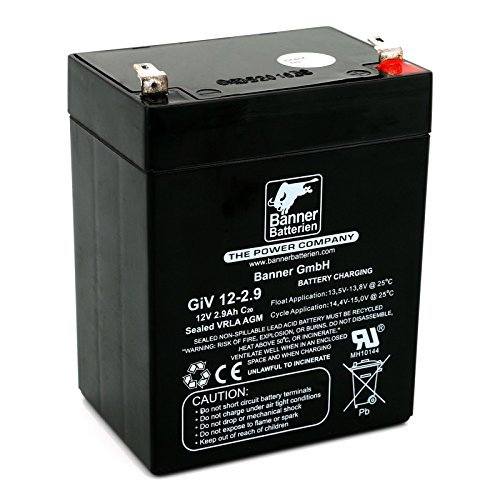 Banner Batterie Stand by Bull 12 Volt 2,9Ah Typ GiV 12-2.9 Akku Notstrombatterie Brandmeldeanlage Alarmanlage