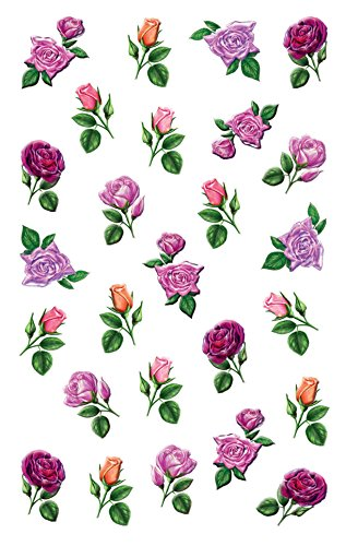 AVERY Zweckform 54456 Deko Sticker Rosen 78 Aufkleber