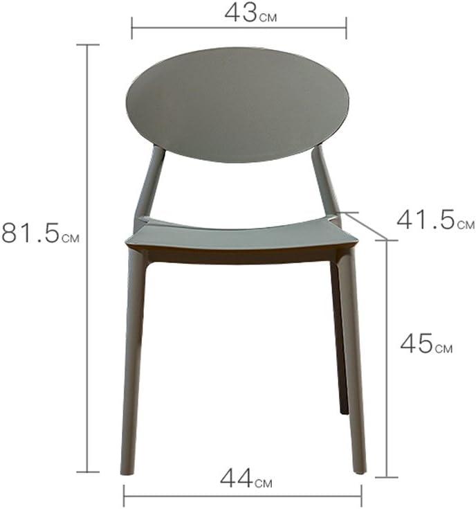WDX- Chaise de loisirs en plastique minimaliste moderne maison chaise créative mode (Color : E) D