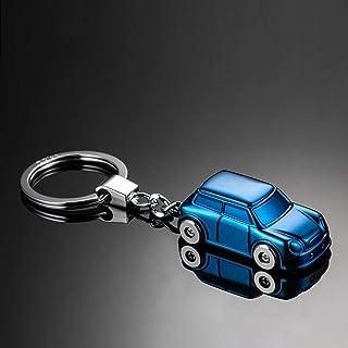Keyfob Car Model Keychain Led Light Auto Accessories Keyring Key Pendant Lightweight Zinc Alloy Key Holder YJXUSHYQ (Color...