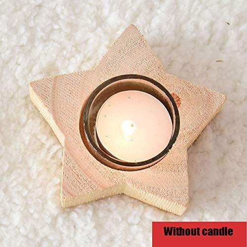 ZHAOYUNZHEN Candelabro di Pino Candelabro di Albero di Natale Candelabro di Natale Creativo candelabro in Legno Ornamento Natalizio,C