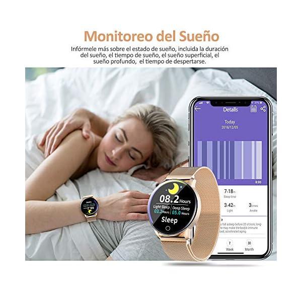 NAIXUES Smartwatch, Reloj Inteligente IP67 con Presión Arterial, 8 Modos