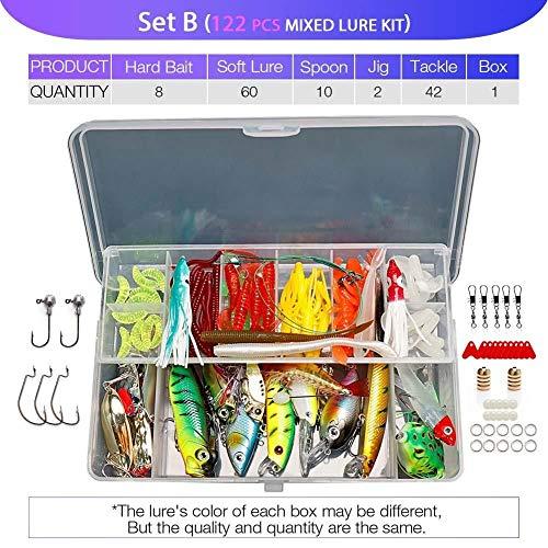 FBXYL visaas-set, Wobbler, verschillende kleuren, kunstaas, hard, metaal, sjabloon, Rankbait vissen