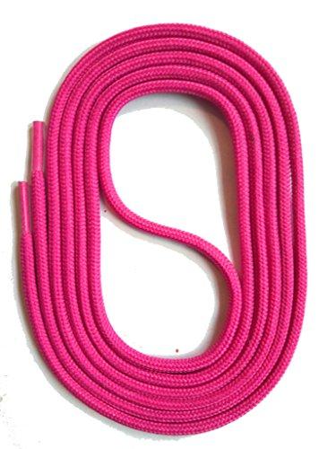 SNORS Schnürsenkel PINK RUND 3mm, 130cm reißfest, Made in Germany Rundsenkel aus Polyester für Sportschuhe Sneaker Turnschuhe Laufschuhe und Stiefeletten