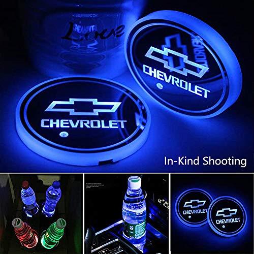 Bylan 2pcs LED Car Cup Holder Lights for Chevrolet,7 Colors Changing USB...