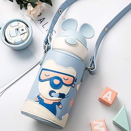 Täglicher Bedarfvakuumbecher Mit Stroh Weihnachten Geweih Tasse Kaninchen Tasse Niedlichen Tragbaren Wasserkocher Xiong Youyou 600Ml