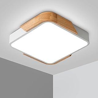 Plafonnier LED 24W Lampe Plafond avec Télécommande Luminosité Réglable Luminaire Salle de Bain Carré Ultra Mince Moderne p...