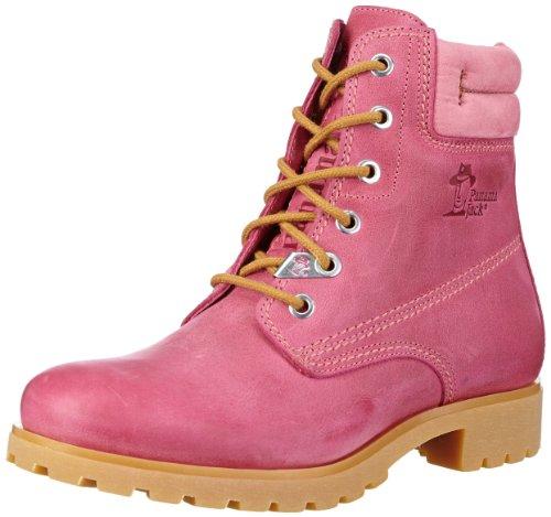 Panama Jack Panama 03 Colours, Zapatos de Cordones Brogue para Mujer, Rosa (Fucsia B2), 38 EU