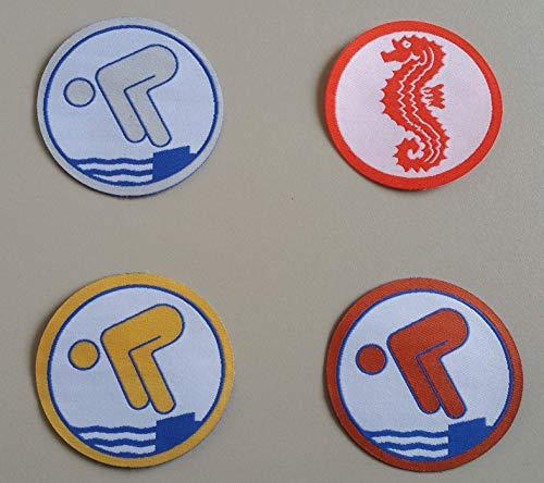 4 x Schwimmabzeichen RUND Seepferdchen, Bronze, Silber und Gold @ErlebeWasser