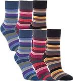 Vitasox 11966 Damen Socken Bambus Bambussocken Damensocken Ringelsocken ohne Gummi ohne Naht bunt Ringel 6 Paar 39/42