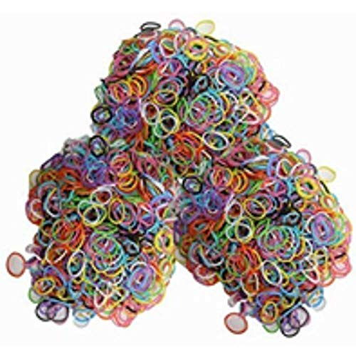 1st Choice Latex-Free Silicone Refill Bands - 1800pcs Mixed Colors with 85+ C_Clips and S_Clips Mix.