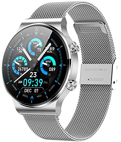 ANMI SmartWatch Hombre, Reloj Inteligente IP68 con Pantalla Táctil, Pulsera de Actividad Inteligente Hombre para Deporte, Monitor de Actividades, Podómetro Cronómetro Pulsómetro para iOS Android