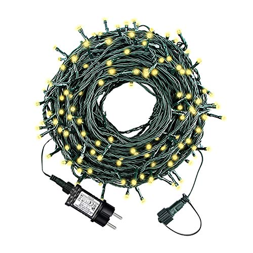 HYGX Led Lichterkette 35m 300led Warmweiße Weihnachtslichter für Drinnen und Draußen Verwenden...