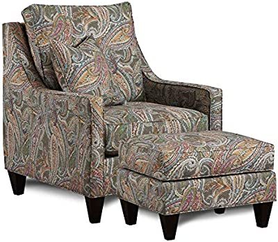Amazon Com Paisley Wing Back Chair Kitchen Amp Dining
