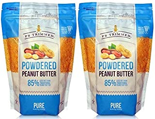 PB Trimmed All Natural & Kosher Premium Powdered Peanut Butter from Real Roasted Pressed Peanuts, Good Source of Protein - VALUE PACK (Pure, 1 lb 2-Pack)