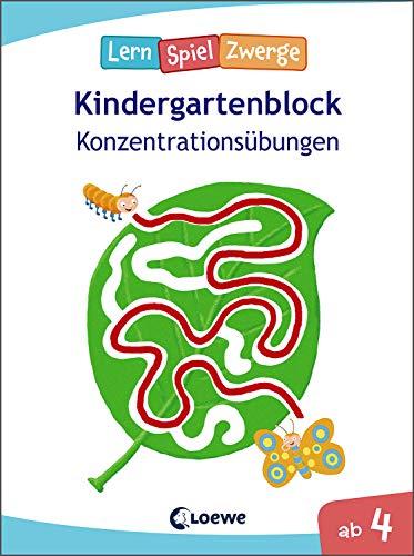 Die neuen LernSpielZwerge - Konzentrationsübungen: Kindergartenblock ab 4 Jahre - Lernspiele und Übungen für Kindergarten und Vorschule