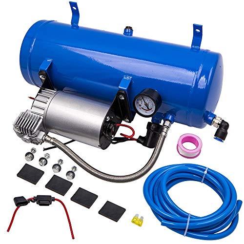 maXpeedingrods Compresor de Aire 150 PSI 6L con Manguera Compresor Aire Electrico...