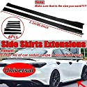 Nologo ROYAL Star TY 6pcs 2.2m Universal-Carbon-Faser-Blick-Auto-Seiten Rock Extensions Splitters Lip for BMW for Audi for Benz Seitenschweller Winglet Lip