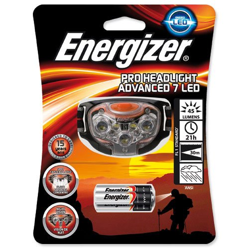 Energizer - Lampe frontale 7 leds -