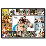 FLASHING CLICK Wooden Photo Collage Frame with 16 to17 Photos (Personalized Photo Collage) not...