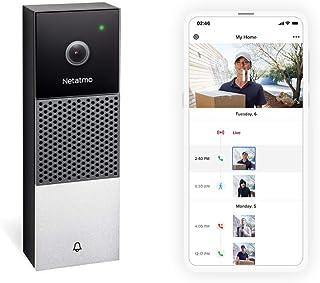 Netatmo NDB-UK dörrklocka med smart video, 2-vägs ljud, personlig igenkänning, inga prenumerationsavgifter, HD 1080p, mörk...