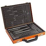 VonHaus Ensemble de 17 accessoires pour perforateur SDS Plus — Jeu de 17 forets et burins — Pour la brique et le béton — Mallette de transport incluse