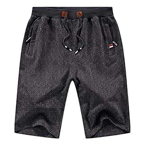 XDXT Pantalones Cortos para Hombres Casual Classic Fit Drawstring Summer Beach Shorts S