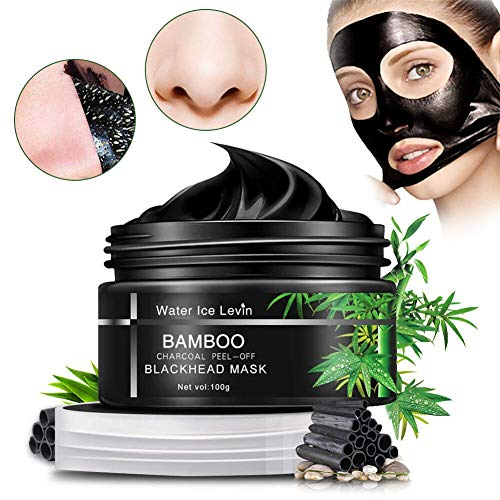 Natural Charcoal Mask, Mitesser Maske Poren reinigen Anti Öl Kontrolle Reinigung Blackhead Maske Für Nase, Wangen und Kinn 100g