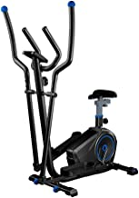 NOLOGO Elliptical Trainer and Exercise Bike with Adjustable Seat and Easy LCD Display/Dual Trainer 2 in 1 Cardio Home Office Fitness Workout Machine