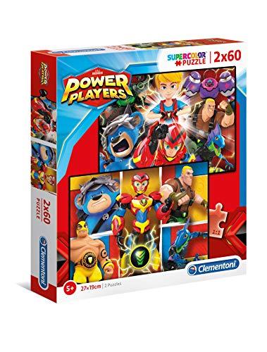Clementoni- Power Players - Puzzle de 2 x 60 Piezas. (21615)