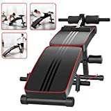 Tribesigns Foldable Weight Bench, Adjustable Sit Up Bench with Incline Decline Flat, Full
