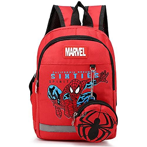 PRETAY Mochilas de Los Vengadores Spiderman,Los Vengadores Shield Mochila Tipo Casual Bolsa Escolar para niños (Color : C, Size : S(30CM))