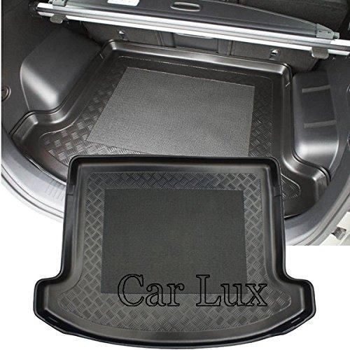 Car Lux AR02878 - Alfombra Bandeja Cubeta Protector Cubre Maletero a Medida para Carens IV Desde 2013- con Antideslizante