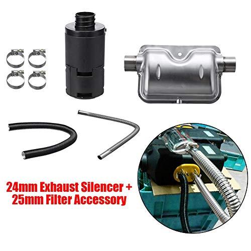 ATpart Auto Heizung, 8 Pcs Universal Auto Verbrauchsmaterial Zubehör Luft Diesel Heizung Schalldämpfer Filter Zubehör Für Luft Diesel Heizung Auto Anhänger