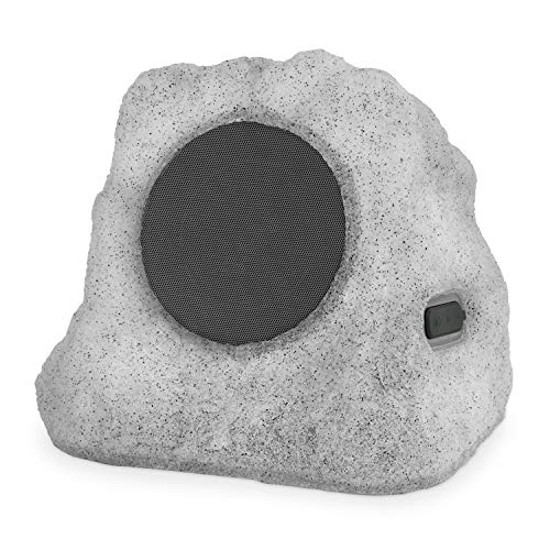 Victrola Outdoor LED Lightup Rock Speaker Single - Wireless Bluetooth Speaker for Garden, ...